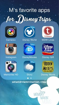 Awesome list of apps to download and use when planning and vacationing Disney style