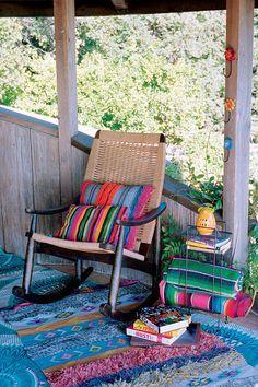 mexican porches, color