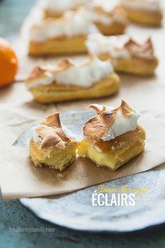 Lemon Meringue Éclairs #recipe via FoodforMyFamily.com
