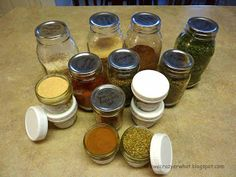Food Storage: Storing Herbs and Spices for long term storage