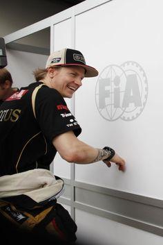 GP Australia 15 March 2012 #formula1 #f1 #australia #raikkonen Kimi smile ;-)