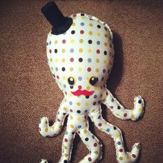 Handmade Octopus Stuffed animal soft toy, cloth material, felt, toddler toy