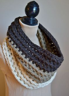 The Ombre Chunky Crochet Cowl - this is for sale on Etsy, but I like the inspiration it gives me.