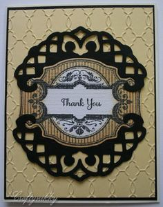 Lattice Die.   Nice use of this pretty die.   Craftynikky thank you just rite stamp card