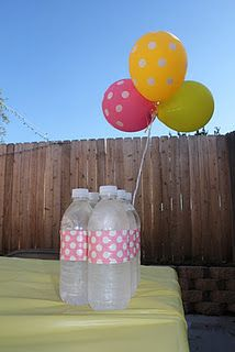 duct tape, color schemes, duck tape, water bottle labels, 1st birthdays