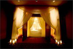White draping to make a fabulous ceremony entrance to our #Boston #Ballroom. #Luxbride