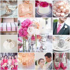 Pink, Peach & Silver Wedding