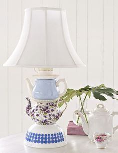 cup, tea sets, table lamps, alice in wonderland, teapot lamp, kitchen, blog, sweet paul, light