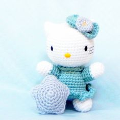 "e-Pattern, not a finished doll.    This is a listing of "" Wishing star kitty "" , amigurumi doll pattern/PDF.    Completed size: Kitty - 7 , star - 3"