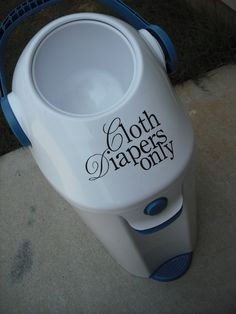 Cloth Diaper decal-- need this for our cloth diaper pail ;)