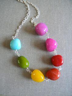 rainbow jade necklace