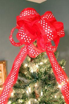 Christmas Bow Tree Topper Tutorial