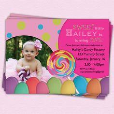 Candy Land Birthday Invitation #etsy #party