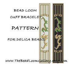 Bead Loom Cuff Bracelet Pattern Vol.11 - Dragon Bracelet - PDF File PATTERN via Etsy
