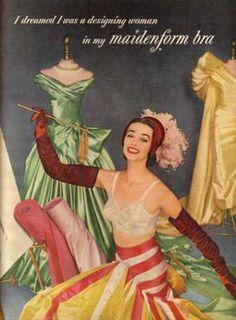 1955 Maidenform bra advertisement.