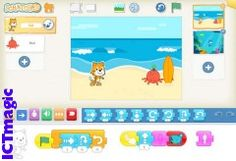 An iPad and junior version of the well know programming platform Scratch. The app has been designed for 5+ year olds and boosts simplified versions features of the more mature version. Children still snap programming blocks together to build amazingly creative things. Download at https://itunes.apple.com/us/app/scratchjr/id895485086?ls=1&mt=8
