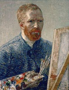 [Van Gogh - Self Portrait Before an Easel] vangogh, museums, self portraits, paint, amsterdam, artist, van goghanyon, easel, vincent van gogh