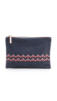 CLARE VIVIER Flat Clutch | selected by jamesdrygoods.com for the made in america: contemporary project | #madeinusa |