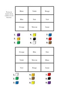 French Activities with Colors (5 Pages)