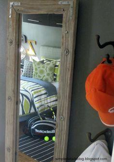 teen boy's bedroom... diy salvaged mirror
