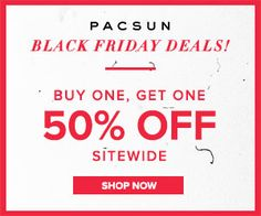 PacSun Black Friday BOGO 50% off Sitewide Coupon