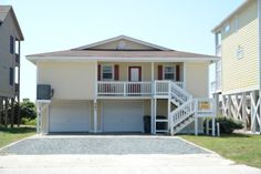Holden Beach, NC - Carpenter 591 a 4 Bedroom Oceanfront Rental House in Holden Beach, part of the Brunswick Beaches of North Carolina. Includes Hi-Speed Internet