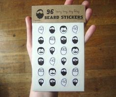 beard stickers