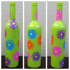 My painted wine bottle!