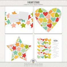 I Heart Stars | Templates by Laura Passage