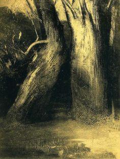 Odilon Redon ~ Two Trees, 1875