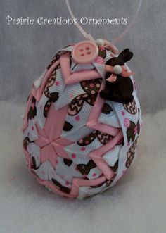 Quilted Easter egg--maybe try other way around, so you see cross in center