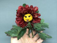 Ooak fairy happy flower baby art doll by footstepsinthewind