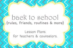 Counseling Hearts: Back to School Lessons