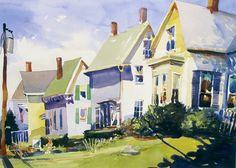 Rockland, Maine, watercolor, Robert Leedy, watercolour