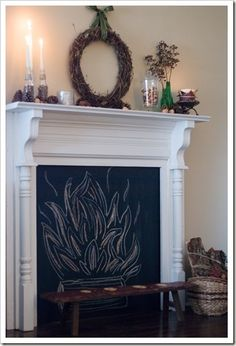 DECORATING IDEAS WITH FAKE FIREPLACES