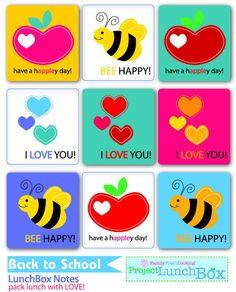 LunchBox Love Notes – DIY Printables via @Marla Landreth Meridith