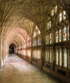 Colourful Gloucester Cathedral, Cloisters