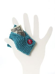 Coin Purse |  Free Knitting Patterns | Good use for stash yarn