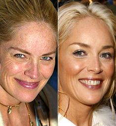 sharon stone, galleries, celebrities without photoshop, celebr galleri, mila kunis, makeup, star, stones, plastic surgery