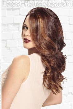 Brunette Haircolor with Caramel Highlights