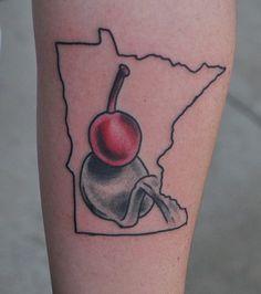 Minnesota Tattoo, Spoon and Cherry Tattoo, Sculpture Garden, by John Laramy, Northeast Tattoo and Piercing, Minneapolis, MN, Twin Cities