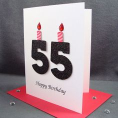 55th Birthday Card  Milestone Birthday  Greeting by ZeeBestCards,