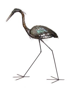 Recycled Metal Goliath Heron | Handmade from recycled oil drums in Zimbabwe