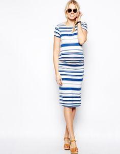 Image 4 ofASOS Maternity Midi Dress In Stripe