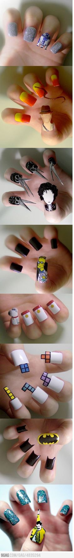 Awesome nails. so creative.