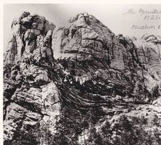 Face of Mount Rushmore Before Construction