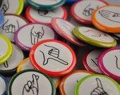 Sign Language Magnets