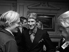Yves Saint Laurent and Andy Warhol in WWD