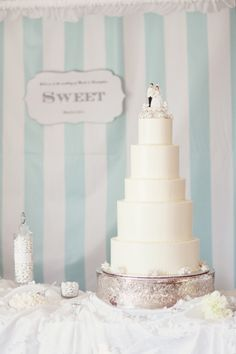 lovely cake with a vintage topper