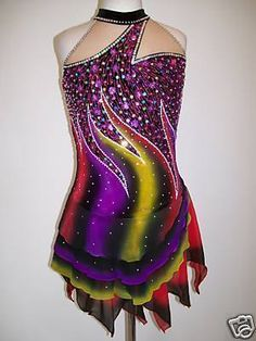 CUSTOM MADE TO FIT ICE SKATING BATON TWIRLING COSTUME